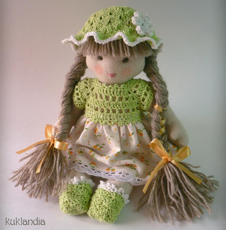 Зеленинка, 20 см, Вальдорфская игрушка, Самара, Фото №1