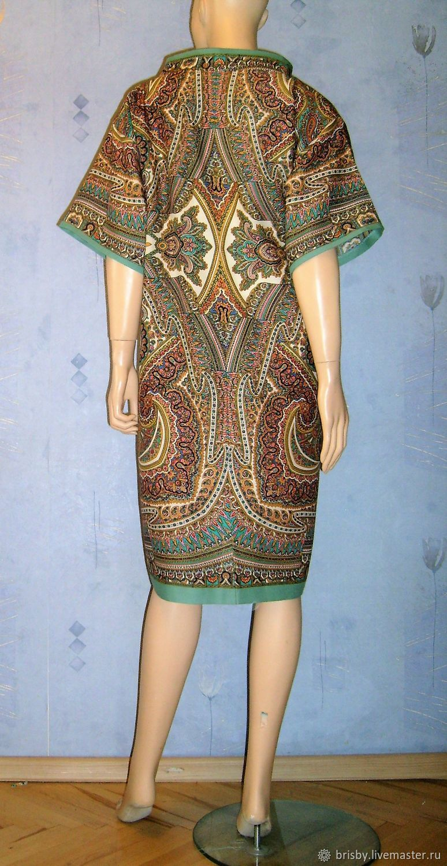 4da8f2f08b9e Платья ручной работы. Платье-туника из павловопосадской шали