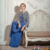 Одежда ручной работы. Ярмарка Мастеров - ручная работа Тельняшка с льняным якорем. Handmade.