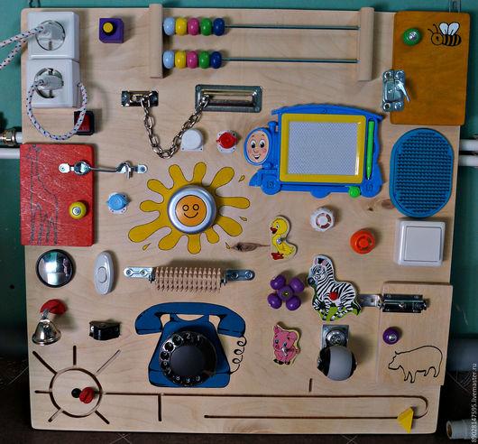Развивающие игрушки ручной работы. Ярмарка Мастеров - ручная работа. Купить РАЗВИВАЮЩАЯ ДОСКА бизиборд. Handmade. Комбинированный, бизиборд на заказ