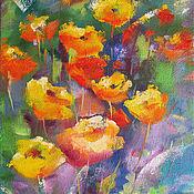 """Картины и панно ручной работы. Ярмарка Мастеров - ручная работа Картина """"Мои цветы"""". Handmade."""