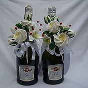 Свадебный салон ручной работы. Ярмарка Мастеров - ручная работа Украшения на бутылки. Handmade.