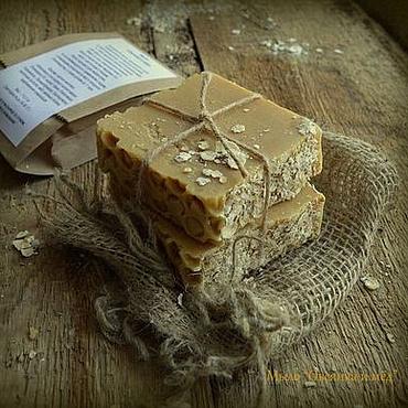 """Косметика ручной работы. Ярмарка Мастеров - ручная работа Мыло """"Овсянка и мёд"""". Handmade."""