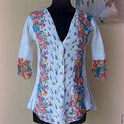 """Пиджаки ручной работы. Ярмарка Мастеров - ручная работа Валяный пиджак  """"Цветочный"""" белый. Handmade."""