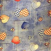 Ткани ручной работы. Ярмарка Мастеров - ручная работа Ткань хлопок Деним. Handmade.