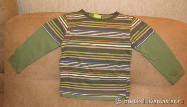 T-shirt striped long sleeves size 92, Vintage clothing, Moscow,  Фото №1