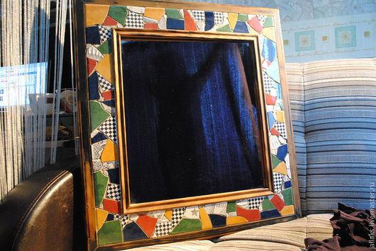Зеркала ручной работы. Ярмарка Мастеров - ручная работа. Купить Зеркало Мозайка. Handmade. Керамическая плитка, зеркало большое