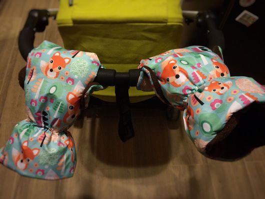 Аксессуары для колясок ручной работы. Ярмарка Мастеров - ручная работа. Купить Руковички/варежки для коляски. Handmade. Муфта, муфта меховая, bugaboo