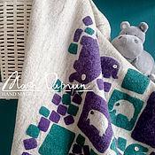 """Работы для детей, ручной работы. Ярмарка Мастеров - ручная работа Валяное детское одеяло """"Дамбо"""". Handmade."""