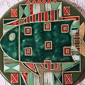 "Посуда ручной работы. Ярмарка Мастеров - ручная работа Тарелка "" Рыбы"". Handmade."