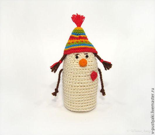 """Человечки ручной работы. Ярмарка Мастеров - ручная работа. Купить Снеговик """"Гномик-девочка"""". Handmade. Важные пустяки, гномик"""