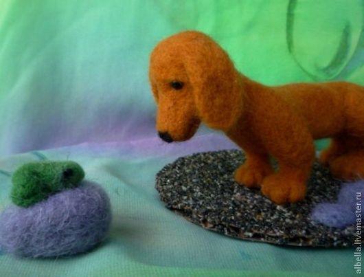 Игрушки животные, ручной работы. Ярмарка Мастеров - ручная работа. Купить Встреча...(продана). Handmade. Оранжевый, валяная игрушка, подарок
