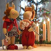 Куклы и игрушки ручной работы. Ярмарка Мастеров - ручная работа лошадки Груня и Ваня. Handmade.