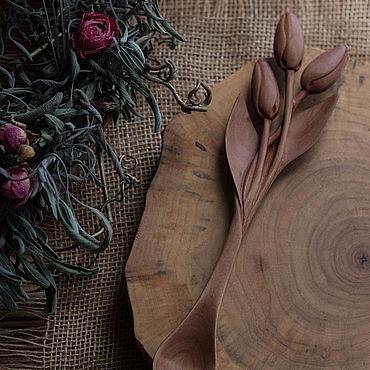 Посуда ручной работы. Ярмарка Мастеров - ручная работа Ложка Букет тюльпанов. Handmade.