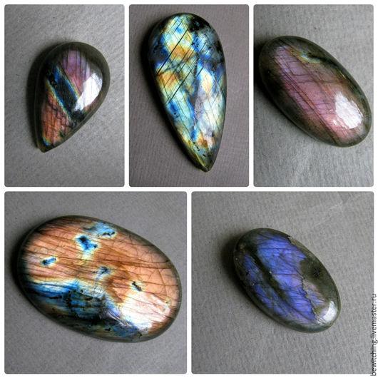 Лабрадор, лабрадорит, спектролит, кабошон для украшений.. Размеры и цены камней указаны под фото. №2,3 - Продан