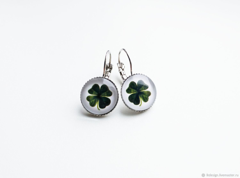 Earrings quatrefoil earrings, Earrings, Moscow,  Фото №1