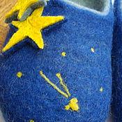 Обувь ручной работы. Ярмарка Мастеров - ручная работа Тапочки валяные из шерсти Звездные. Handmade.