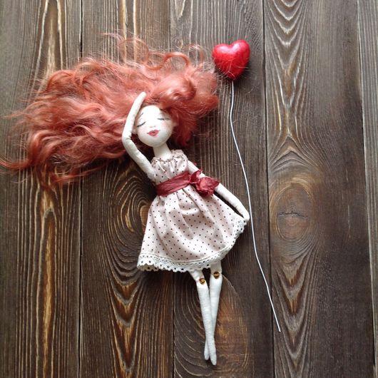 Человечки ручной работы. Ярмарка Мастеров - ручная работа. Купить Текстильная кукла в рамке. Handmade. Кукла ручной работы