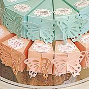 """Бонбоньерки ручной работы. Ярмарка Мастеров - ручная работа """"Тортик с бабочкой""""  бонбоньерка. Handmade."""