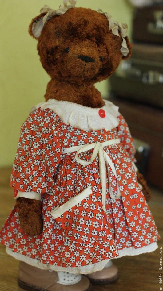Мишки Тедди ручной работы. Ярмарка Мастеров - ручная работа. Купить Шура.. Handmade. Коричневый, винтажный плюш