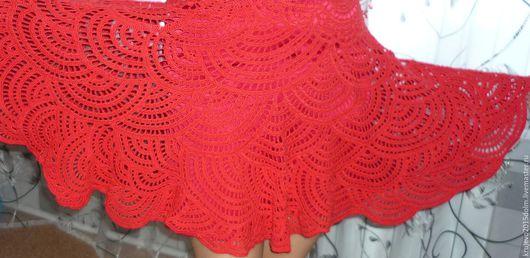Платья ручной работы. Ярмарка Мастеров - ручная работа. Купить Летний сарафан. Handmade. Ярко-красный, красный цвет