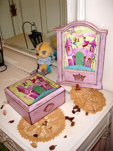 """Детская ручной работы. Ярмарка Мастеров - ручная работа. Купить Комплект в детскую """"Маленькие принцессы"""" (1). Handmade. Комплект для девочки"""
