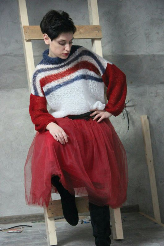 """Кофты и свитера ручной работы. Ярмарка Мастеров - ручная работа. Купить Свитер """"Томми"""". Handmade. Свитер, мохер, вязаный свитер"""