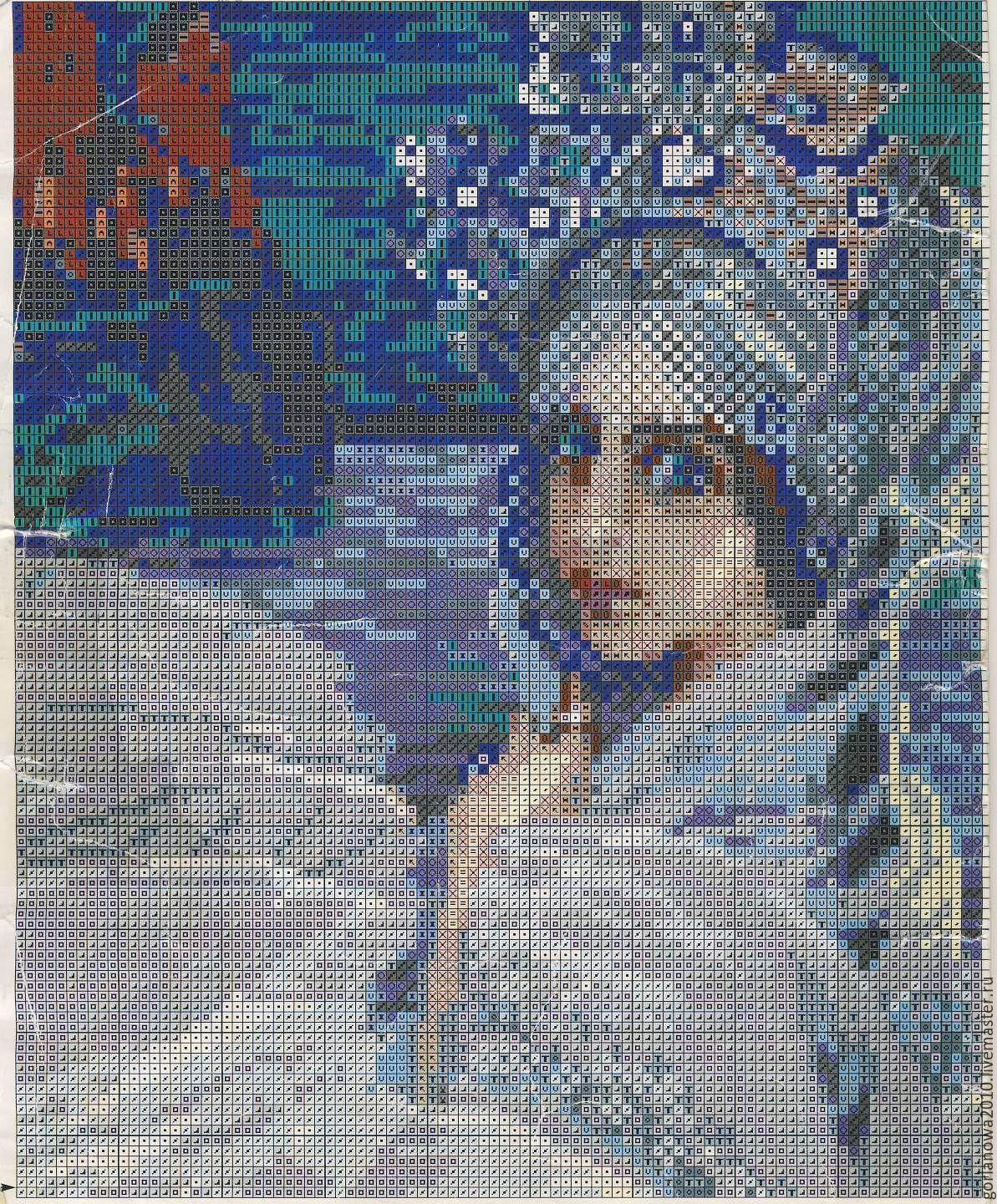 Русские художники схемы вышивок