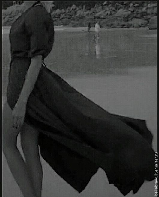 Платья ручной работы. Ярмарка Мастеров - ручная работа. Купить Мантия шелковая  летнее платье  туника шелк холодный. Handmade.