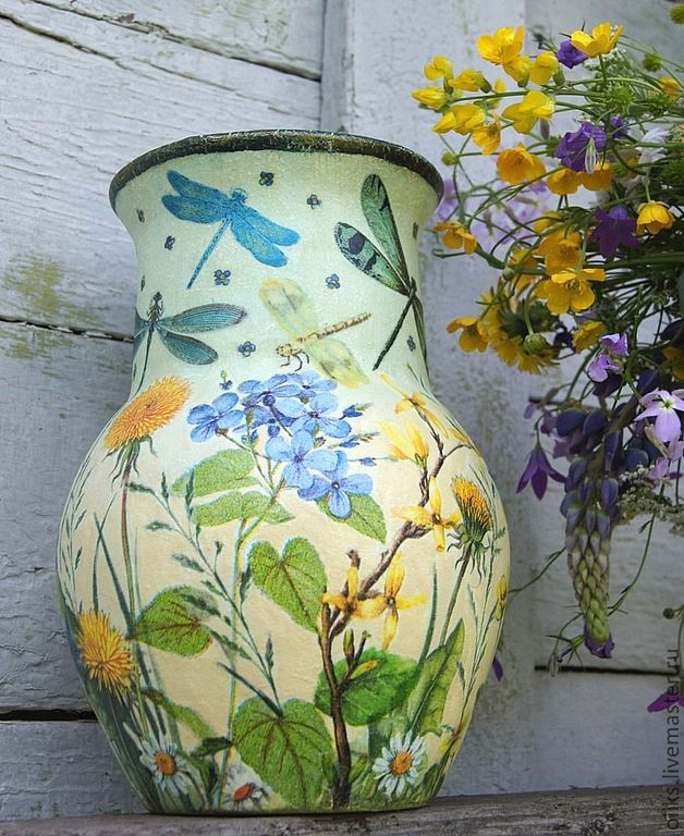 Ceramic jug-jug Dragonfly, Vases, Moscow, Фото №1