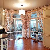 Для дома и интерьера ручной работы. Ярмарка Мастеров - ручная работа Тюль с цветами для гостиной. Handmade.
