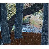 Картины и панно handmade. Livemaster - original item Textile panel Onegin Bench. Handmade.