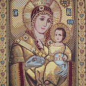 Картины и панно handmade. Livemaster - original item Embroidered icon Vifliemskaya. Handmade.