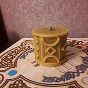 """Фен-шуй и эзотерика ручной работы. Ярмарка Мастеров - ручная работа Свеча """"Открытие путей"""" шестигранная. Handmade."""