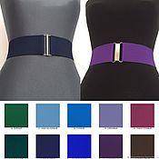 Аксессуары handmade. Livemaster - original item Belt-gum Blue №22 and Violet № 24, different price-different height. Handmade.