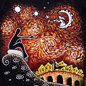 """Одежда ручной работы. Ярмарка Мастеров - ручная работа Женская футболка """"Не такая уж тёмная эта сторона мира..."""". Handmade."""