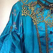 Одежда ручной работы. Ярмарка Мастеров - ручная работа Русский комплект Голубой водопад. Handmade.