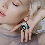 Украшения handmade. Livemaster - original item Asymmetric earrings. Handmade.