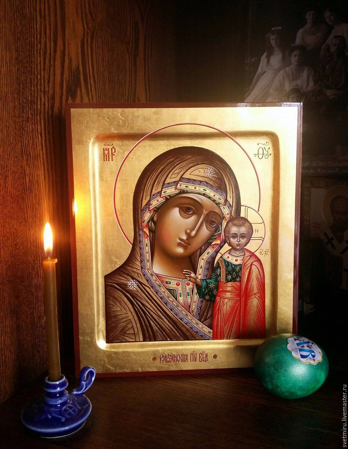 Virgin Of Kazan .The icon is handwritten on gold, Icons, St. Petersburg,  Фото №1