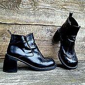 Обувь ручной работы. Ярмарка Мастеров - ручная работа Кожаные ботинки АРТ. Handmade.