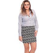 Одежда handmade. Livemaster - original item Skirt Black white Zigzag. Handmade.