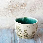 Посуда ручной работы. Ярмарка Мастеров - ручная работа Миска керамика Одуванчики. Handmade.