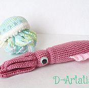 Куклы и игрушки ручной работы. Ярмарка Мастеров - ручная работа Кальмар и медуза, они, если честно.... Handmade.