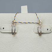 Украшения handmade. Livemaster - original item Gold diamond earrings 0,249 ct. Handmade.