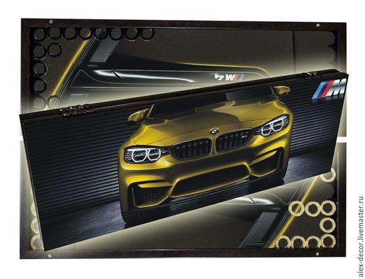 Настольные игры ручной работы. Ярмарка Мастеров - ручная работа. Купить Эксклюзивные стеклянные нарды BMW M4 (серия S). Handmade.