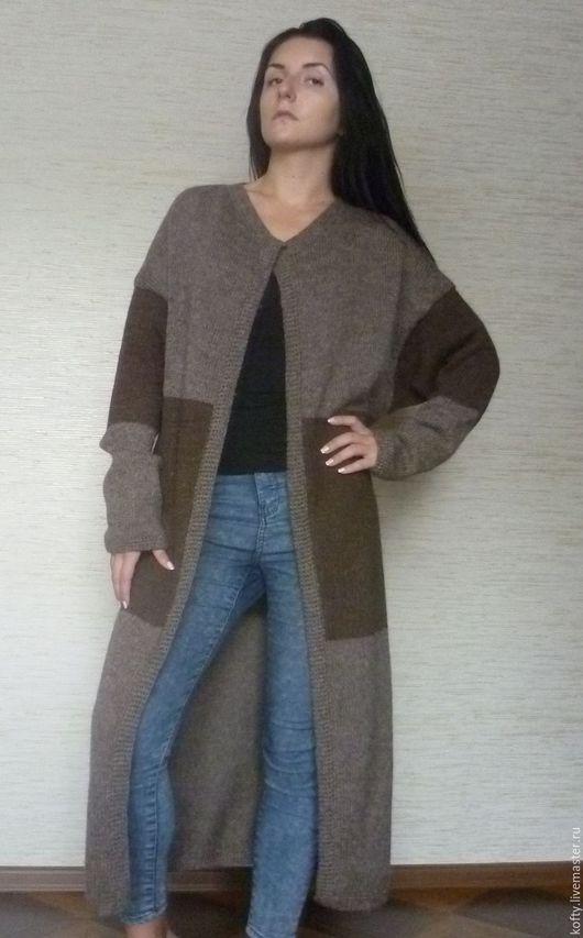 Пиджаки, жакеты ручной работы. Ярмарка Мастеров - ручная работа. Купить Пальто в стиле оверсайз. Handmade. Коричневый, Авторский дизайн