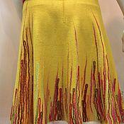 Одежда handmade. Livemaster - original item Felted skirt Sunny Day. Handmade.