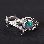 Украшения handmade. Livemaster - original item An opal ring of twigs. Handmade.