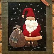 """Для дома и интерьера ручной работы. Ярмарка Мастеров - ручная работа Квилт """"Дед Мороз"""". Handmade."""
