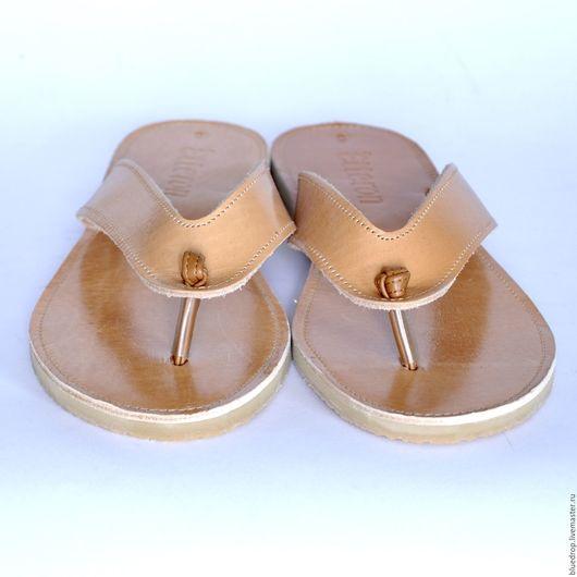 Обувь ручной работы. Ярмарка Мастеров - ручная работа. Купить Кожаные сандалии с узелком. Handmade. Сандалии, натуральная кожа